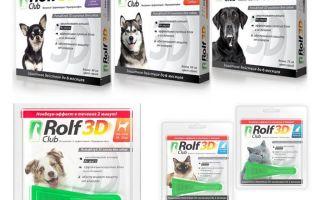 Menurun Rolf Club 3D dari kutu untuk anjing dan kucing