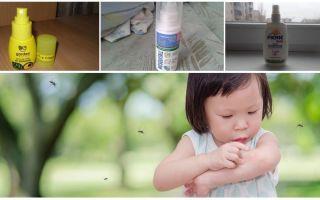 Cara berkesan nyamuk untuk kanak-kanak dari 1 tahun