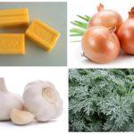 Sabun cuci, bawang, bawang putih dan wormwood